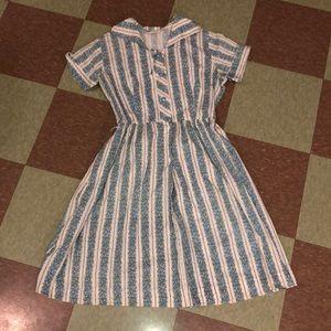 Vintage frock dress gunny sack sm md